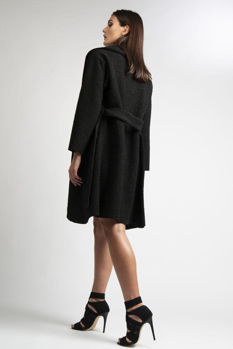 Cappotto over collo ampio con cintura L4-2