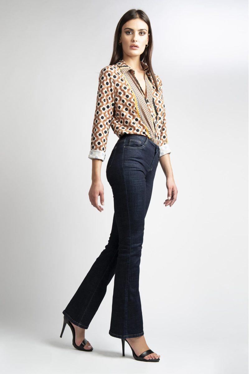 Jeans zampa 5 tasche vita regolare L14-5