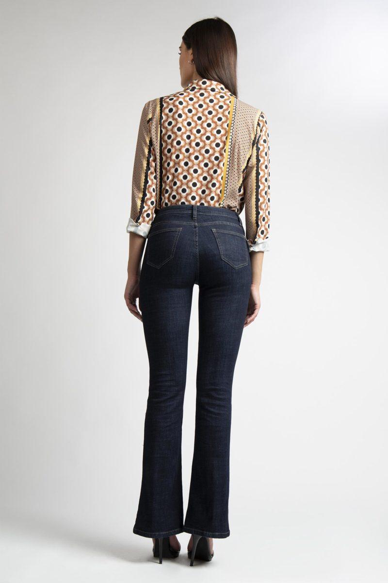 Jeans zampa 5 tasche vita regolare L14-6