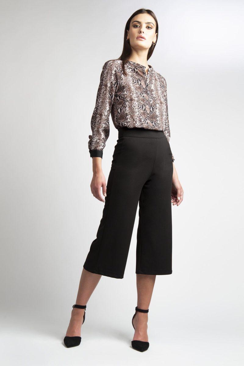 Pantalone ampio vita alta Image-1