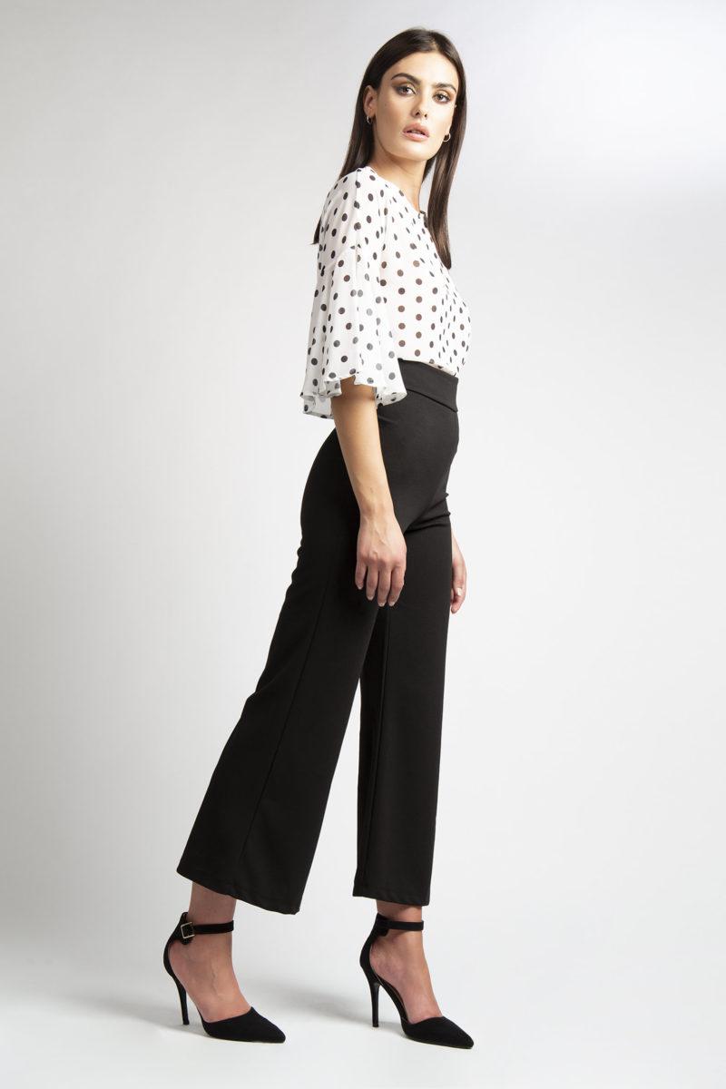 Pantalone ampio vita alta L32-4