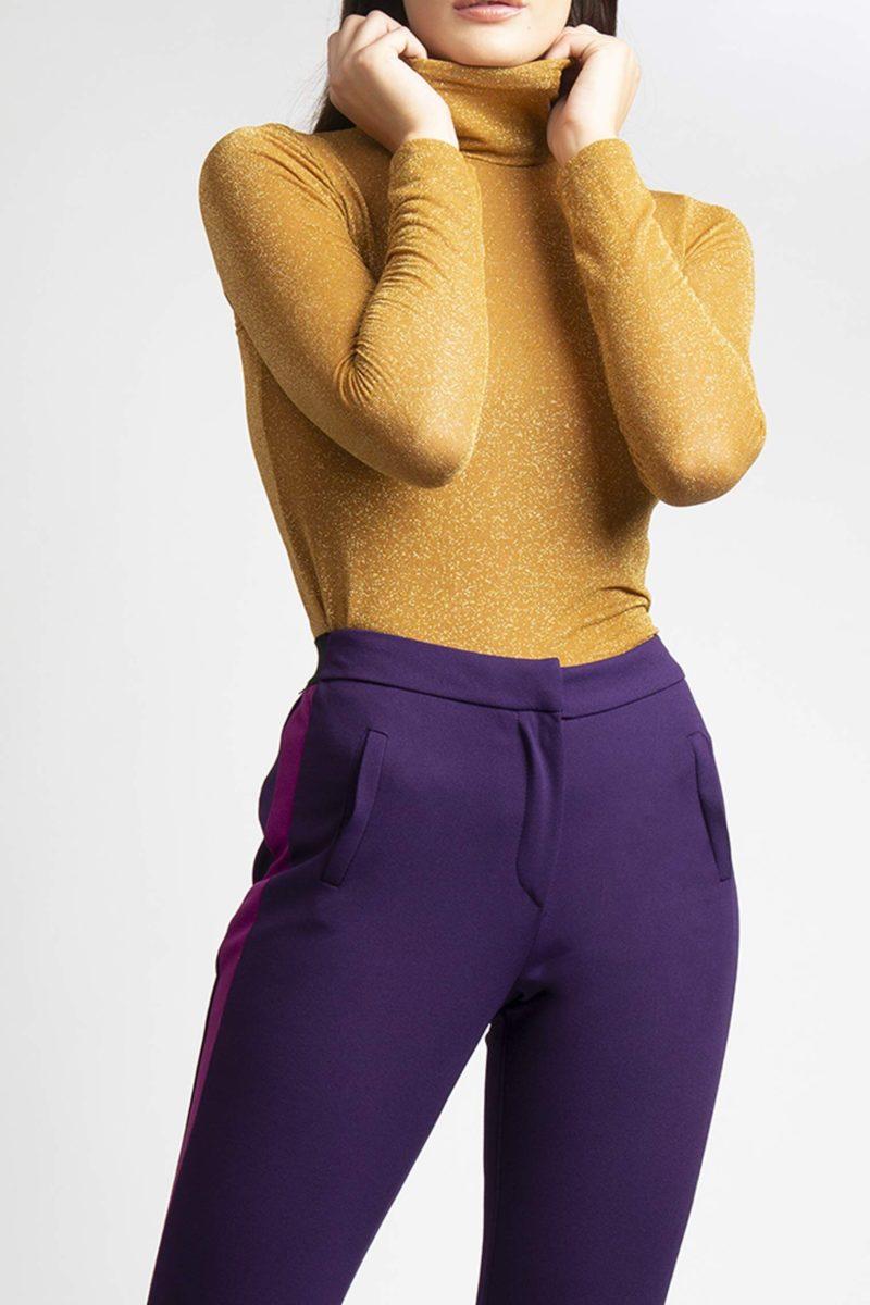 Pantalone con tasche banda laterale a contrasto IMG_8344