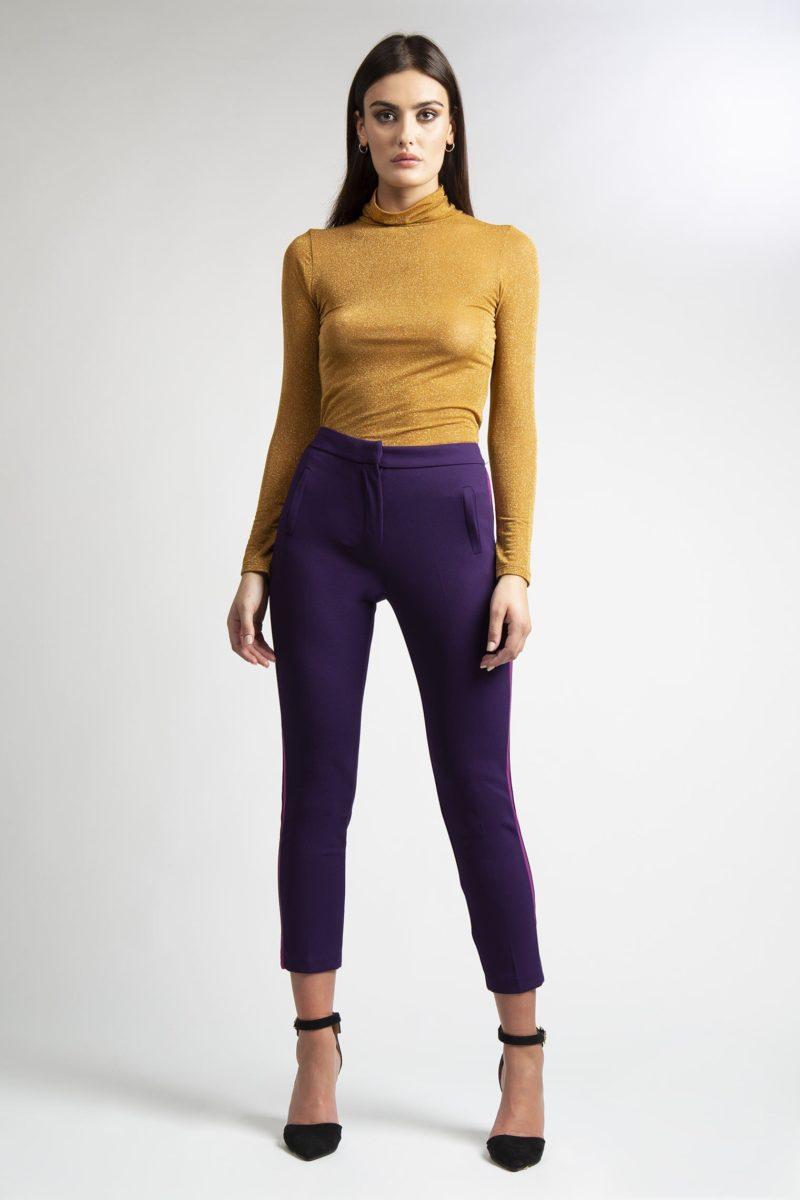Pantalone con tasche banda laterale a contrasto IMG_8346