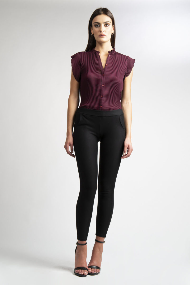 Pantalone stretch effetto legging con tasche L26-1