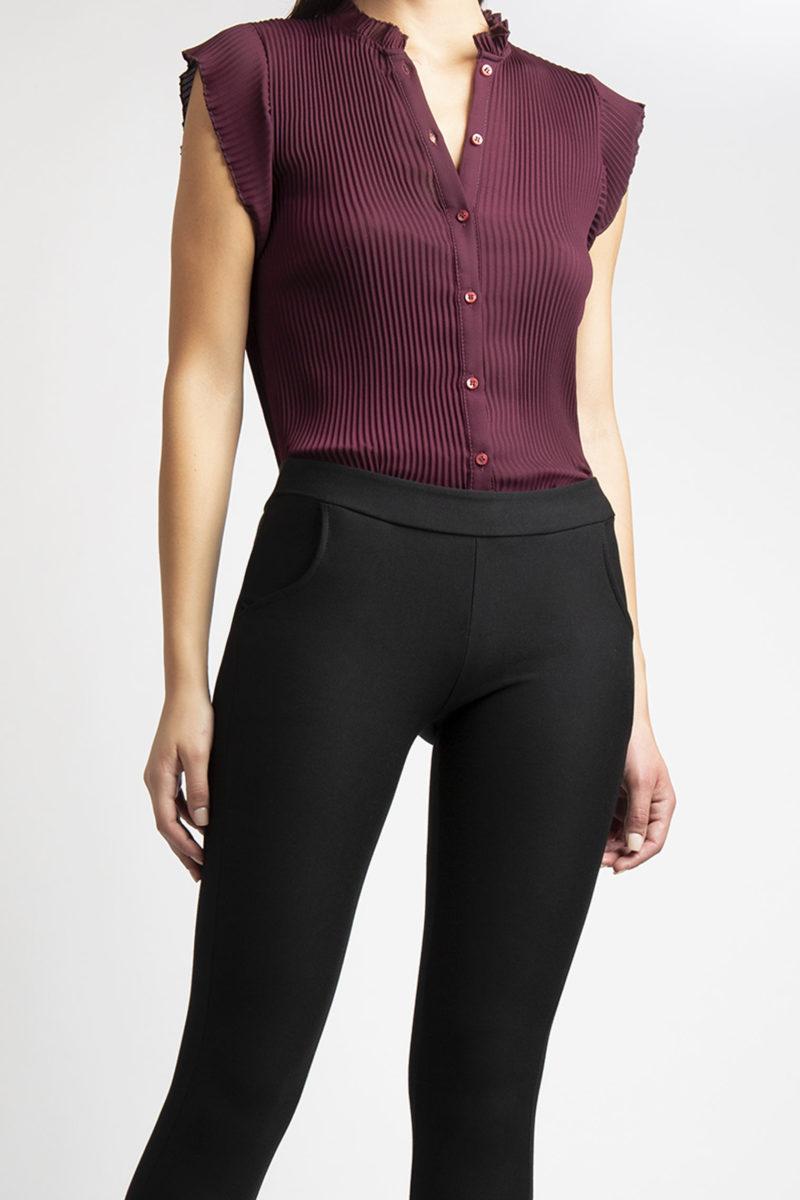 Pantalone stretch effetto legging con tasche L26-2
