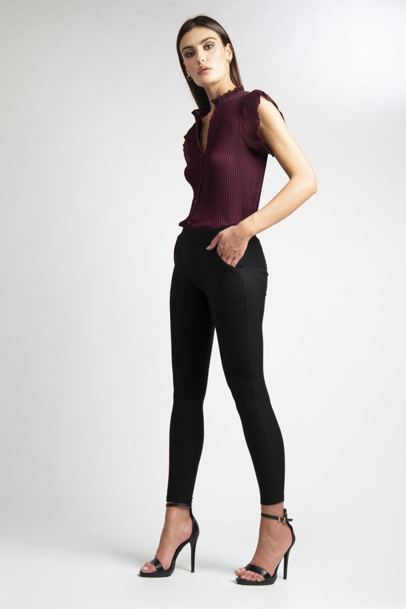 Pantalone stretch effetto legging con tasche L26-3