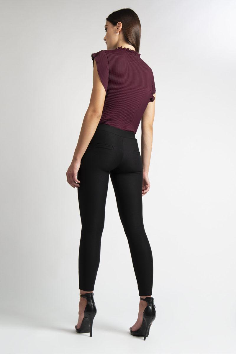 Pantalone stretch effetto legging con tasche L26-4