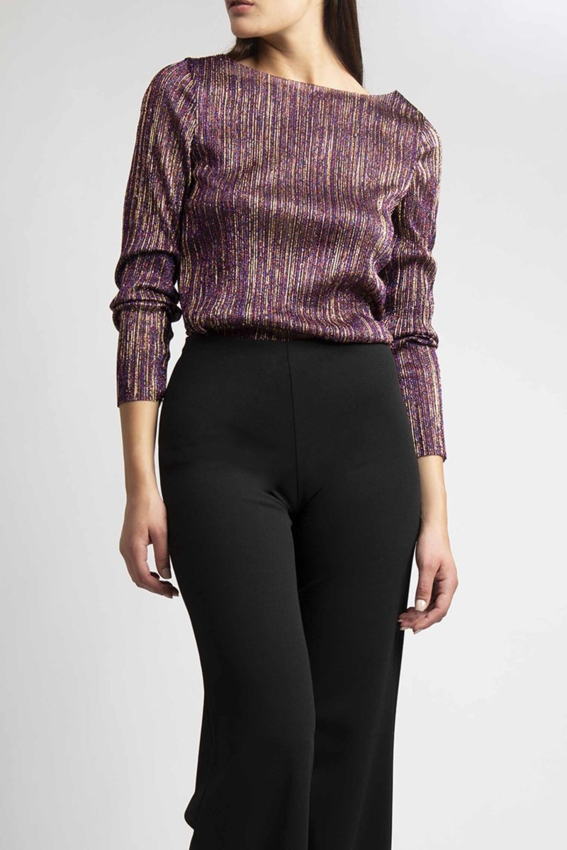 Pantalone vita alta senza bustino largo al fondo (1)